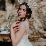 maquillaje natural y peinado de novia